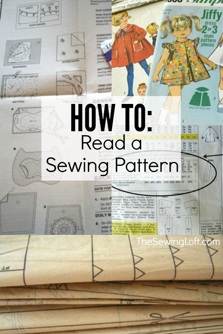 How to Read a Sewing Pattern | Costura, Patrones y Coser