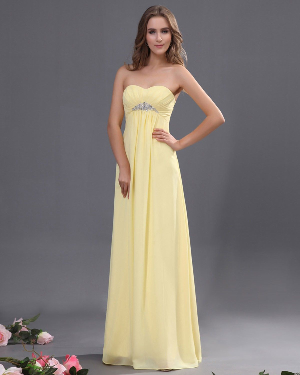 Yellow and grey evening dress prom dresses prom dresses 2013 sweetheart chiffon ruffle floor length bridesmaid dress with beadingis is such a pretty bridesmaid dress if i could get it in turquoise ombrellifo Gallery