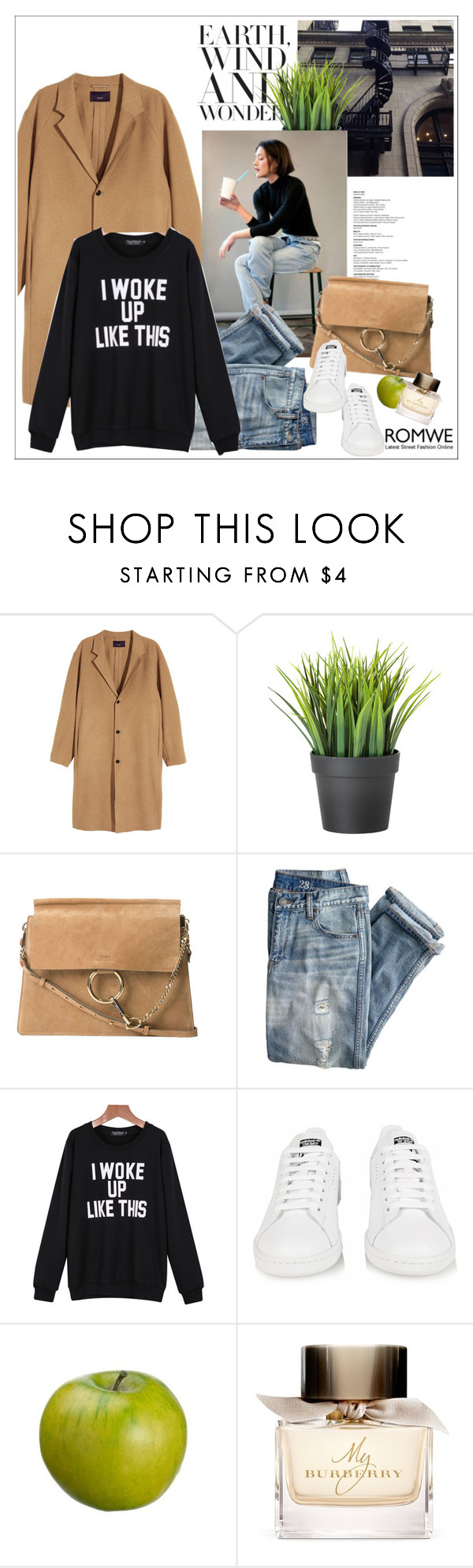 """""""i woke up like this"""" by little-curly-juli ❤ liked on Polyvore featuring Chloé, J.Crew, adidas and Burberry"""
