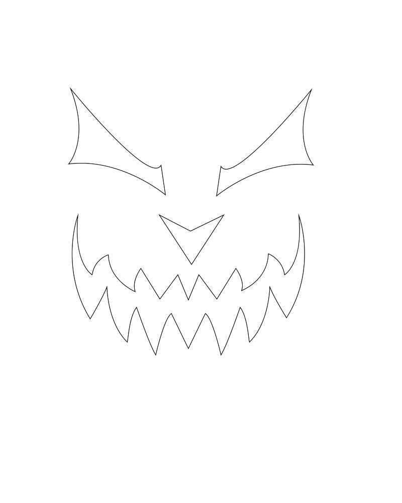 Evil Pumpkin Face Stencil Google Search Halloween Pinterest