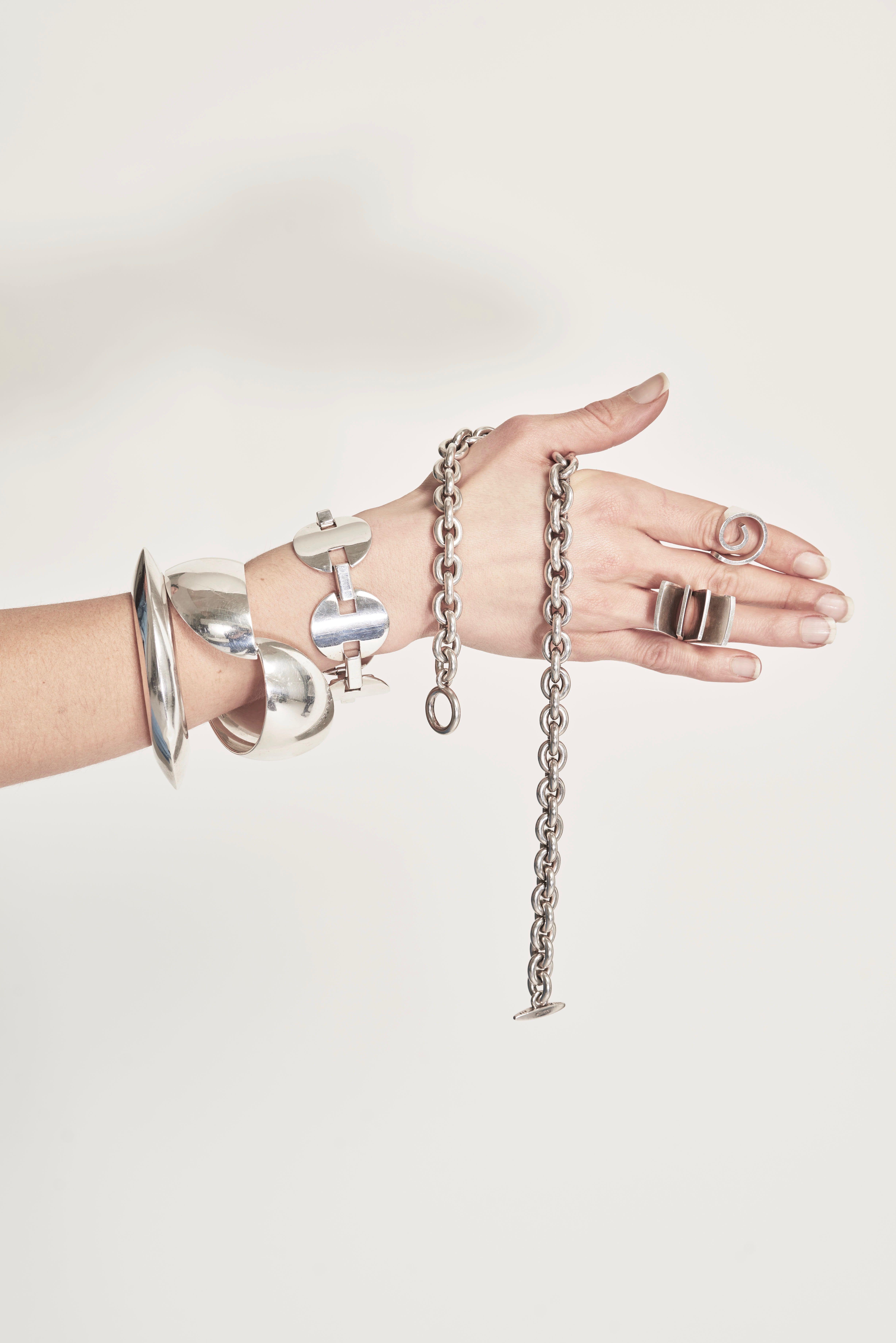 A selection of rare iconic scandinavian jewellery grasilver