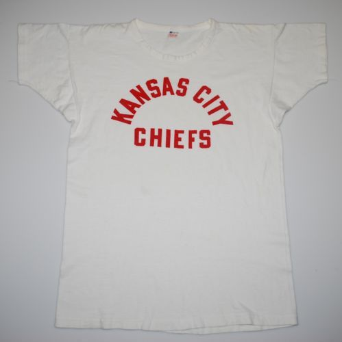 Vintage 1960s Kansas City Chiefs AFL Shirt Champion ...