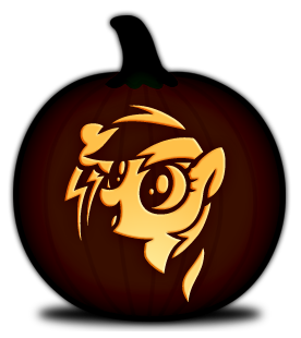 Rainbow Dash Pumpkin Carving Template This Site Has A Bunch Of Cool FREE Printable Templates Just In Time For Halloween D