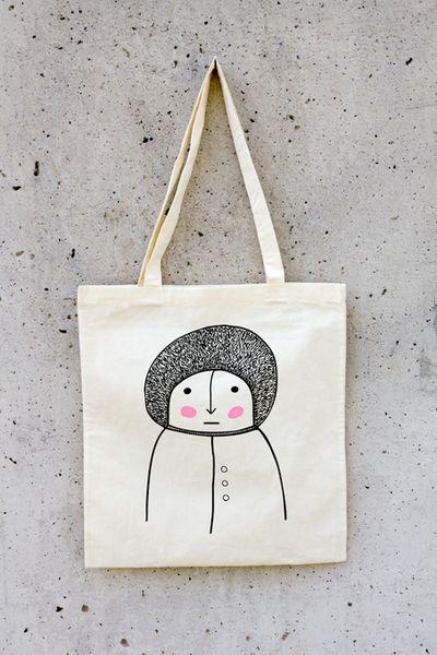 Jutebeutel Inuit / Männchen // Tote bag inuit by this-is-it via DaWanda.com