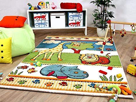 Kinder und Spiel Teppich Savona Kids Lustige Zoowelt Bunt