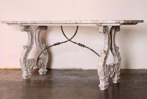 Italian Lyre Console Table available @ CoachBarn.com has beautifully carved legs #coachbarn #furniture