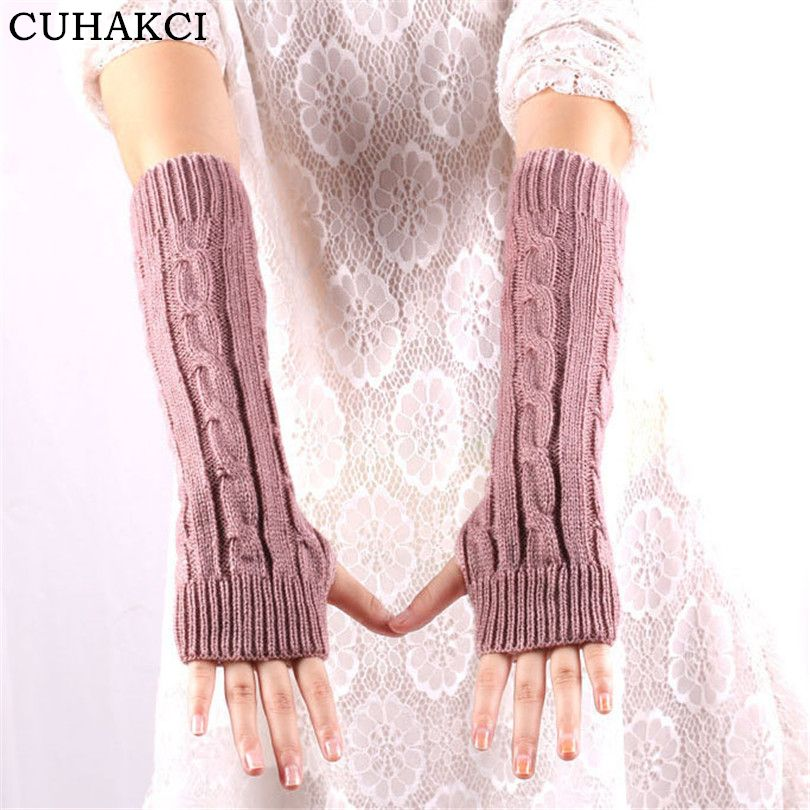 >> Click to Buy << New Women Arm Warm Unisex Female Men Long Guantes Winter Fashion Fingerless Gloves Knitted Mitten Adult Opera Elastic Cuffs G029 #Affiliate