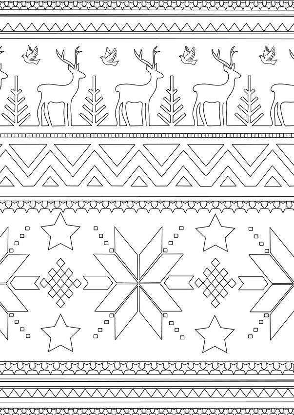 Ausmalen Erwachsene Winter | coloring | Ausmalen, Weihnachten