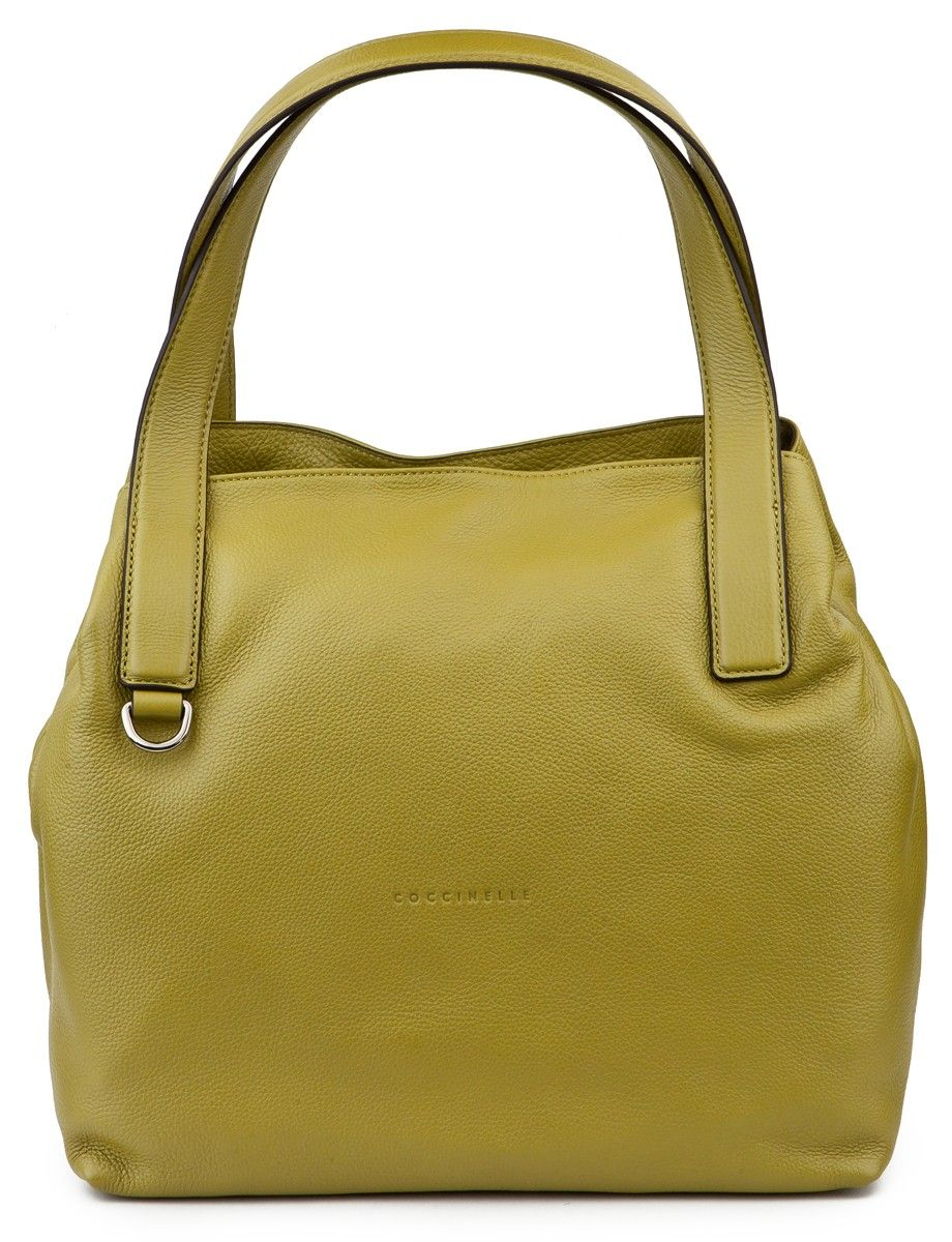 Coccinelle Olive green leather Milla Hobo bag