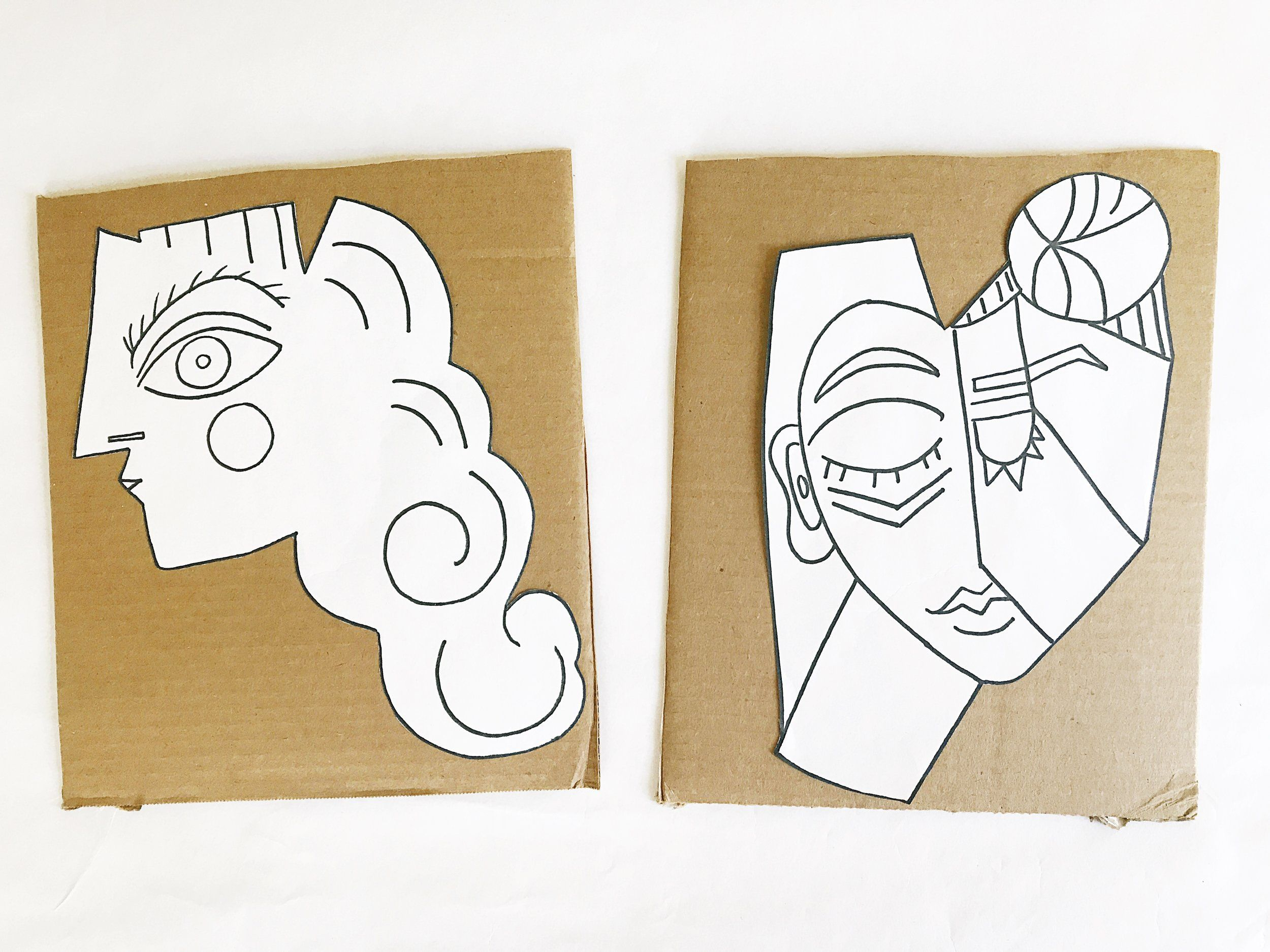 Picasso Style Paper Sculpture