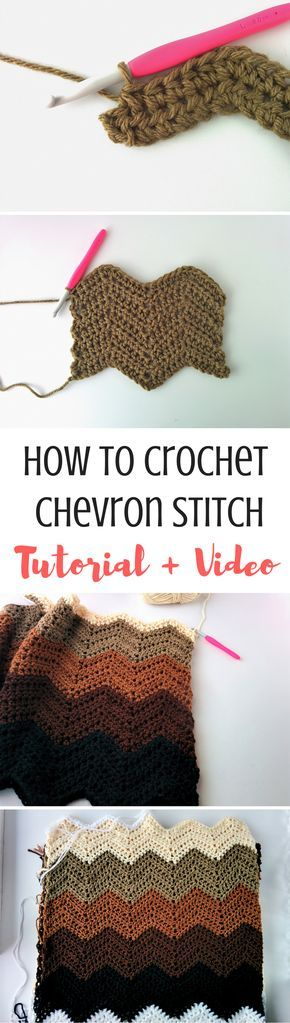 How To Crochet Chevron Stitch Video Written Tutorial Crochet