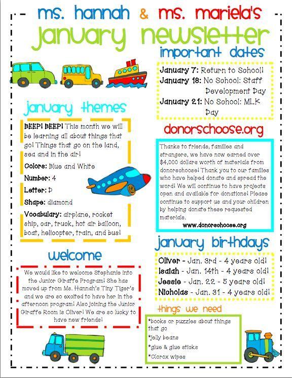 Image Result For Kids Newsletter Template Free Preschool