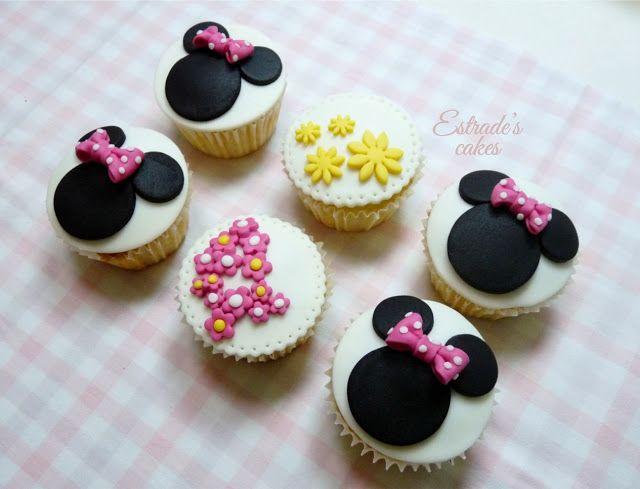 Estrades Cakes Cupcakes De Minnie Mouse Decorados Con