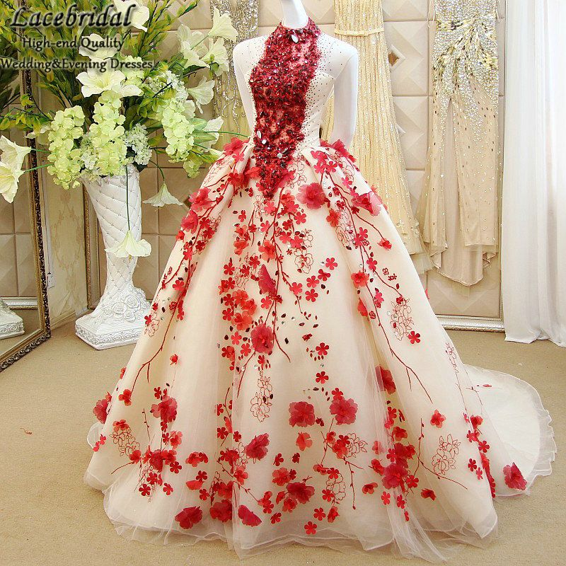 1ee54685c Find More Evening Dresses Information about Dubai Luxury Ball Gown  Embroidered Beaded Diamond Flowers Evening Dresses 2015 Backless Puffy  Party Red Carpet ...