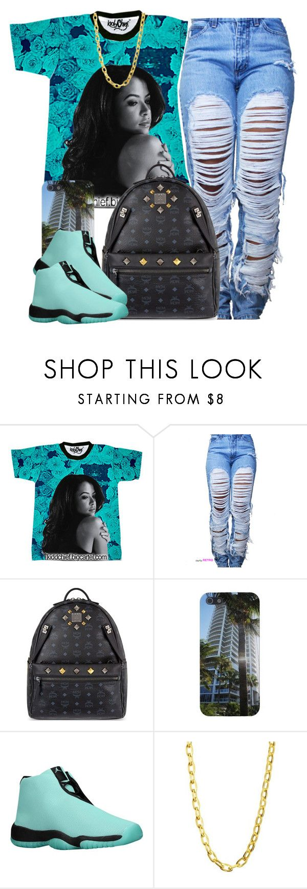 """."" by trillest-queen ❤ liked on Polyvore featuring MCM and Luv Aj"