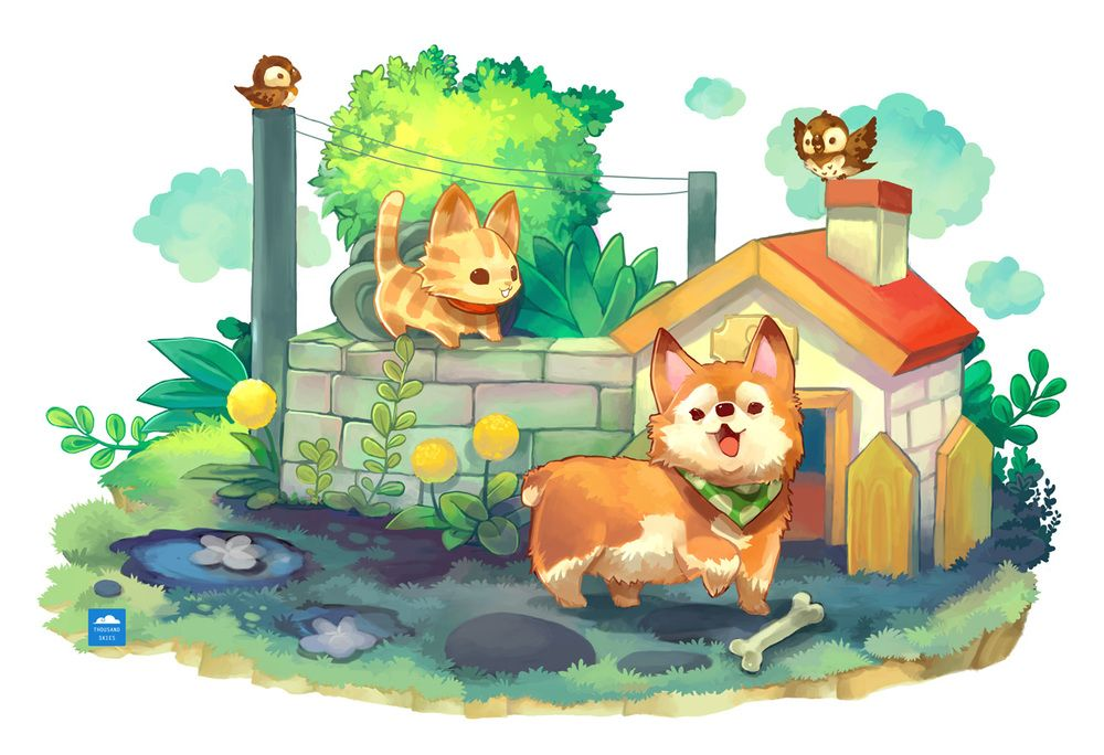 Corgi by Thousand Skies