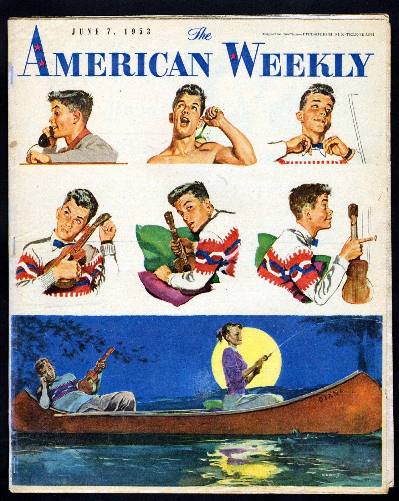 1953 the american weekly magazine june 7 1953 artist