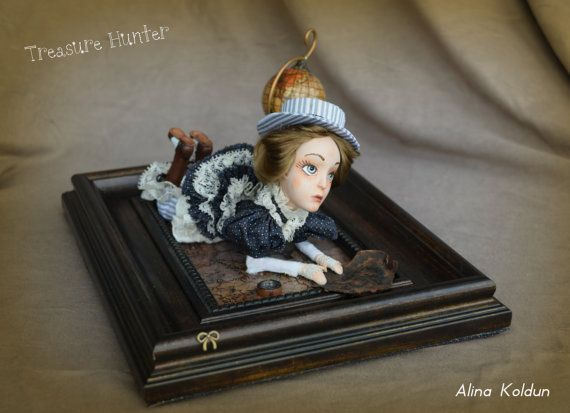 OOAK Art Doll / Colonial Steampunk by CharmingWitchStore on Etsy