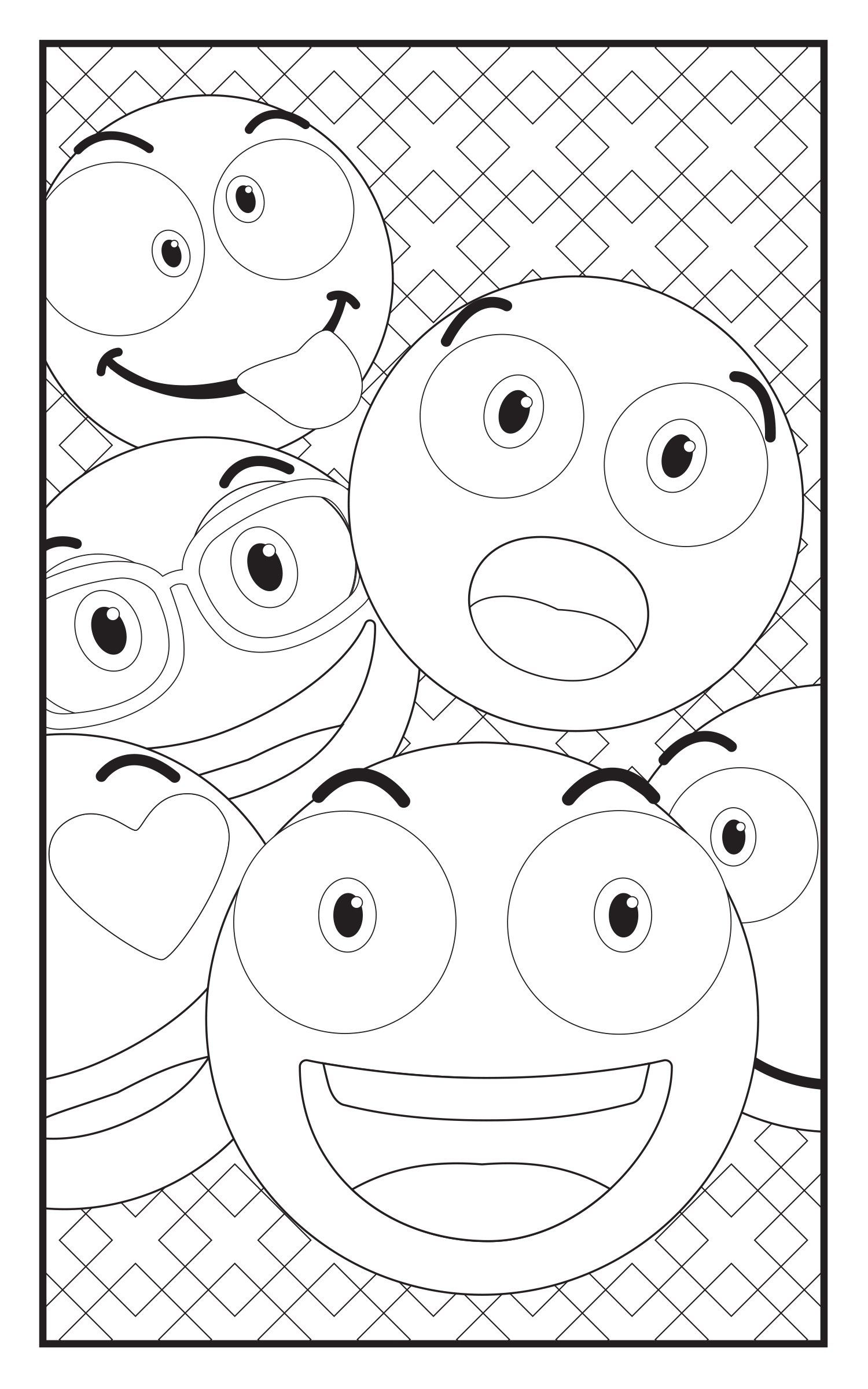 Sunglass emoji faces coloring pages sketch coloring page for Emoji coloring pages
