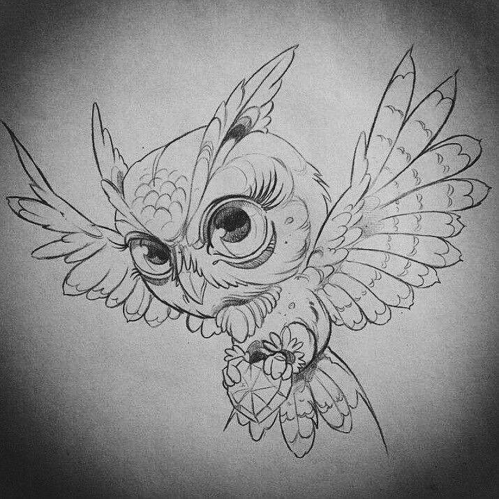 baykuş  owl tattoo drawings owls drawing animal drawings