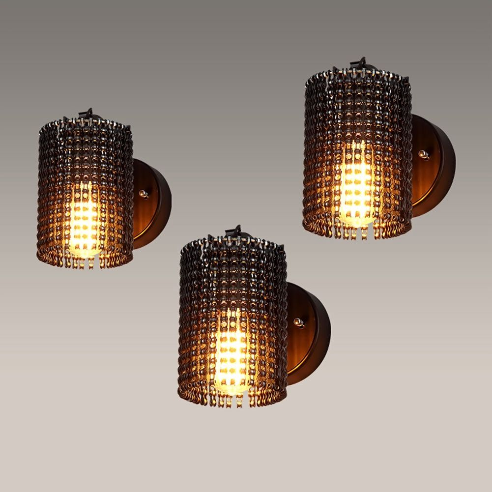Modern Wall Lamps Sconces Iron Bicycle Chain For Restaurant Bedroom