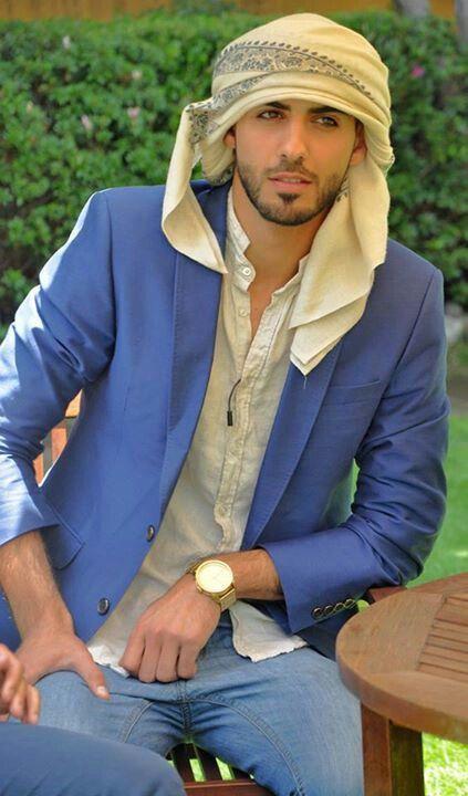 fashionable straight arab guy