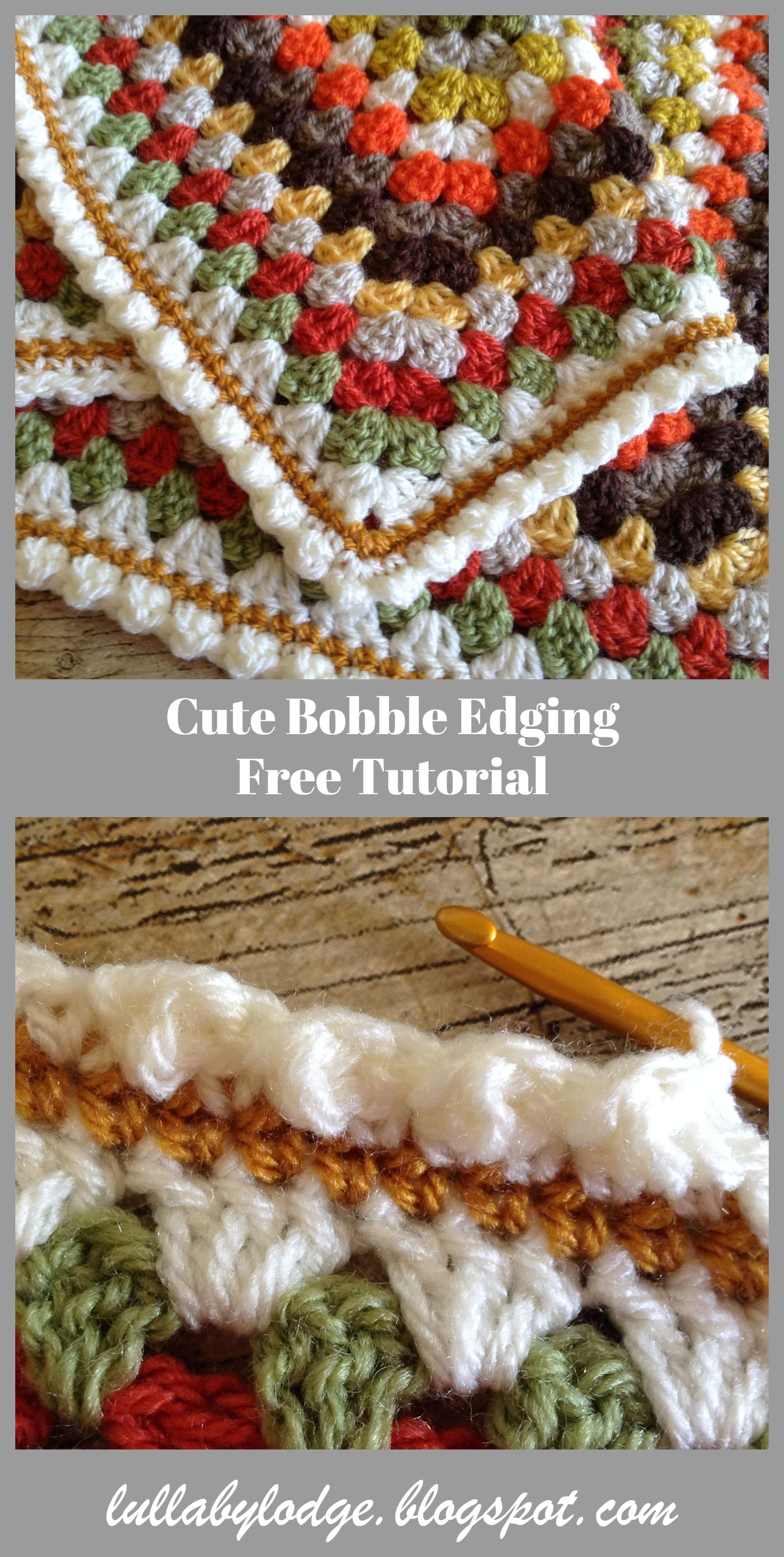 Cute Bobble Edging - Crochet Tutorial #crochettutorial