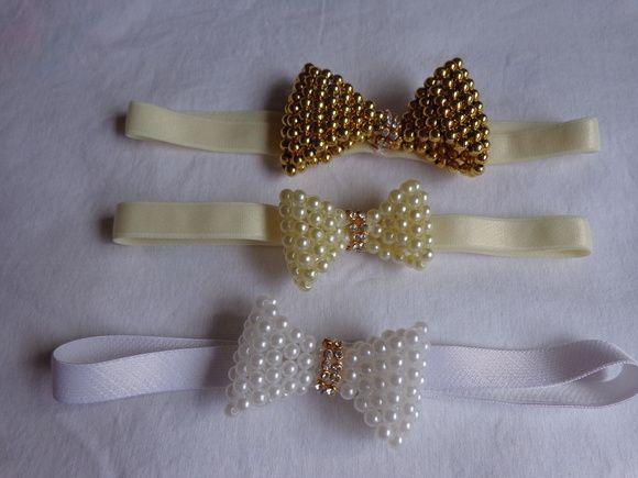 Tiara de elastico para bebe