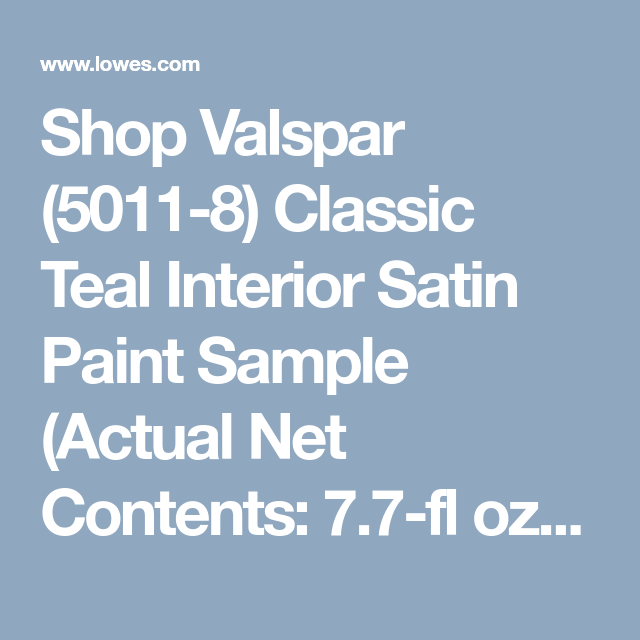 shop valspar 5011 8 classic teal interior satin paint on lowe s virtual paint a room id=38277