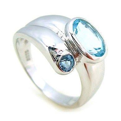 8ce29a37a Stříbrný prsten Silvego s Topazem r0335 velikost 62 | Prsteny na ...