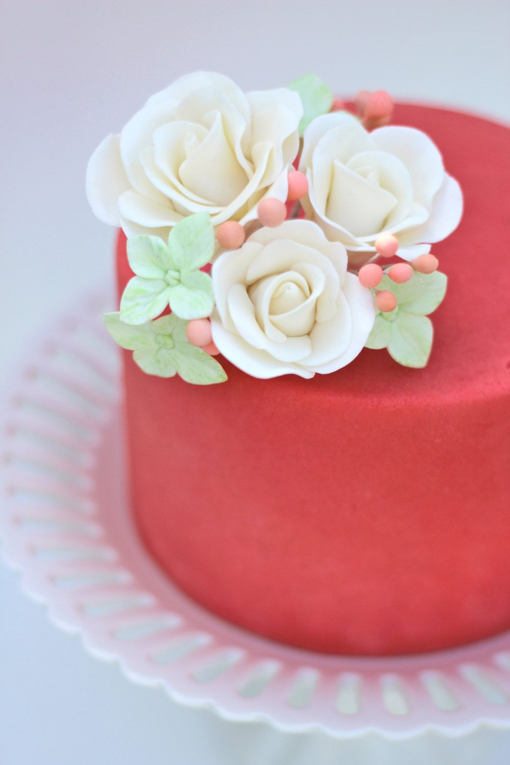 Handcrafted Spring Sugar Flower Bouquet Cake Topper On My New Etsy