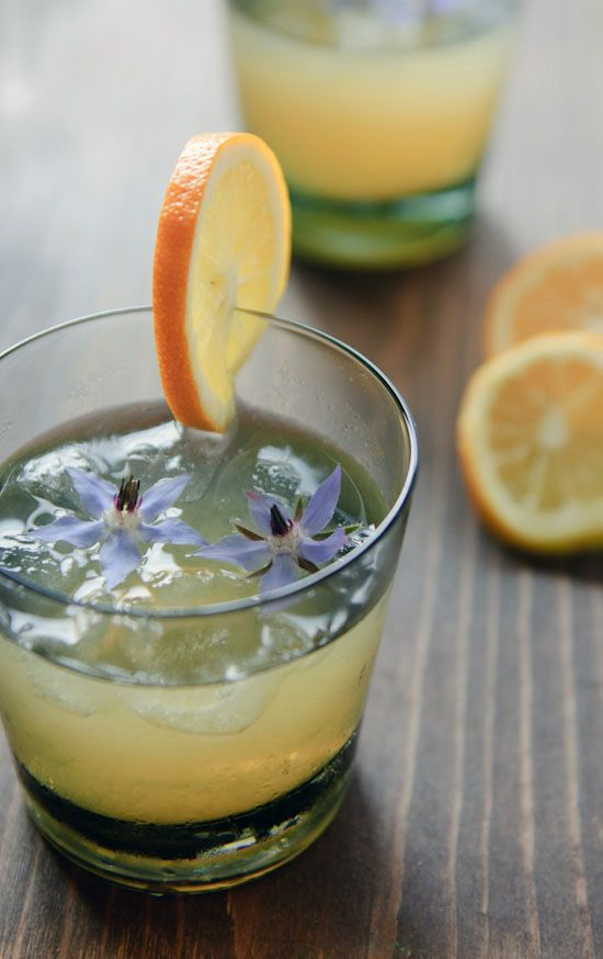 A citrusy rum cocktail featuring orange blossom honey syrup