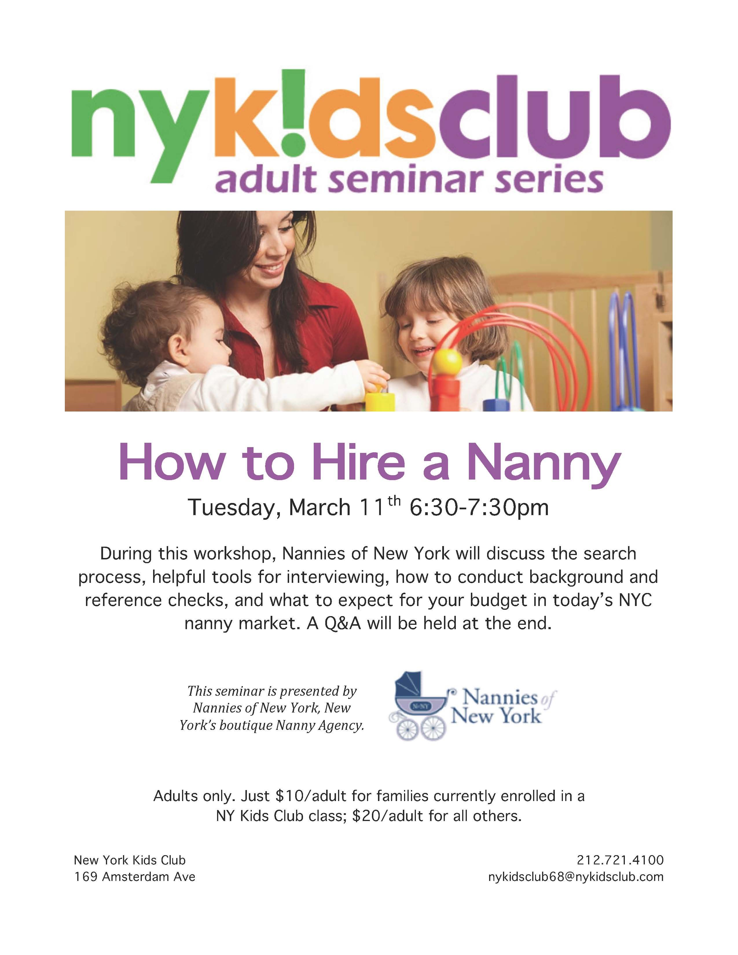 How To Hire A Nanny Workshop Workshop Budgeting Nanny