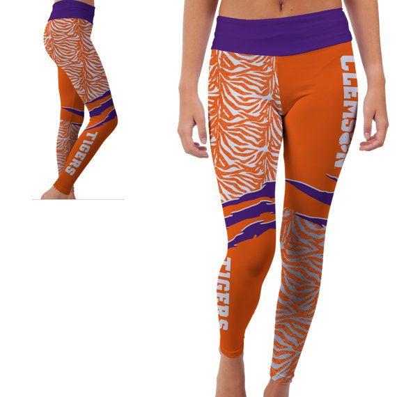 fb5f7b1937 Clemson Tigers Yoga Pants by VictoryTailgateUSA on Etsy | Clemson ...