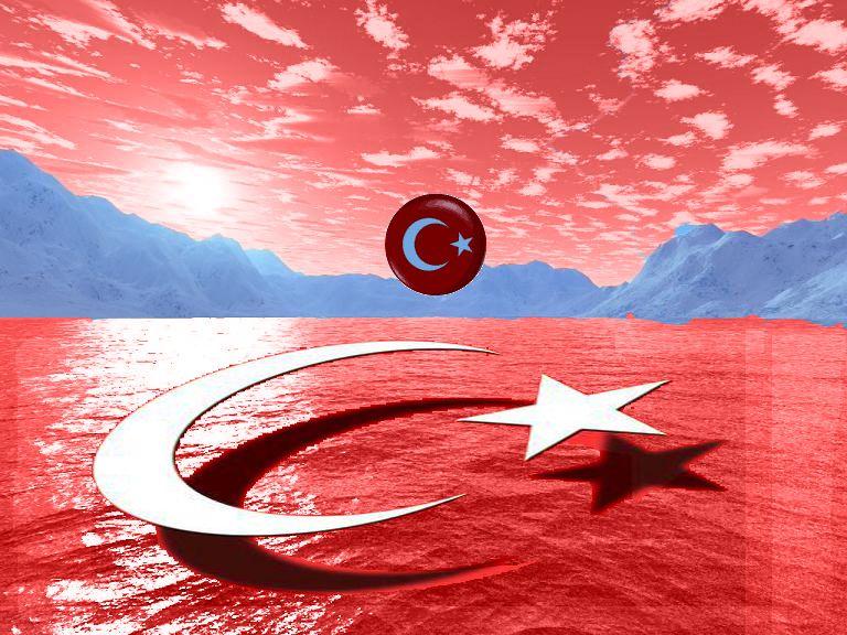 Hareketli Masaüstü Arka Plan Türk Bayrağı Bayraklarımız Turkish
