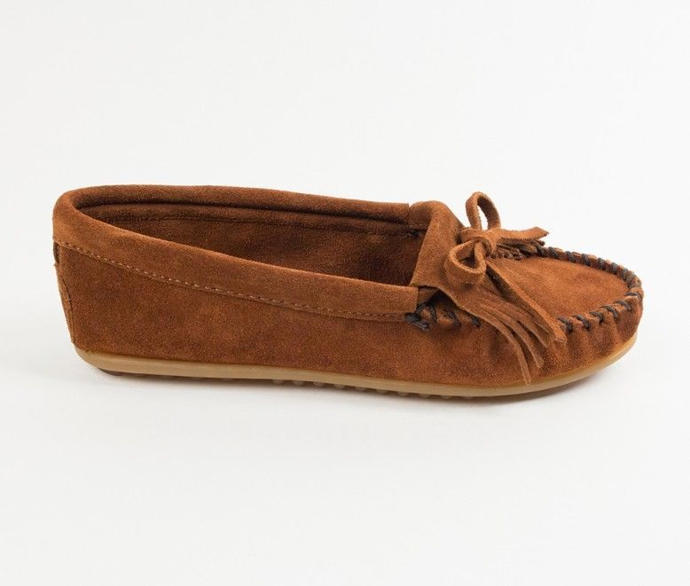 Minnetonka Kilty Brown Leather 402 Women/'s Shoes