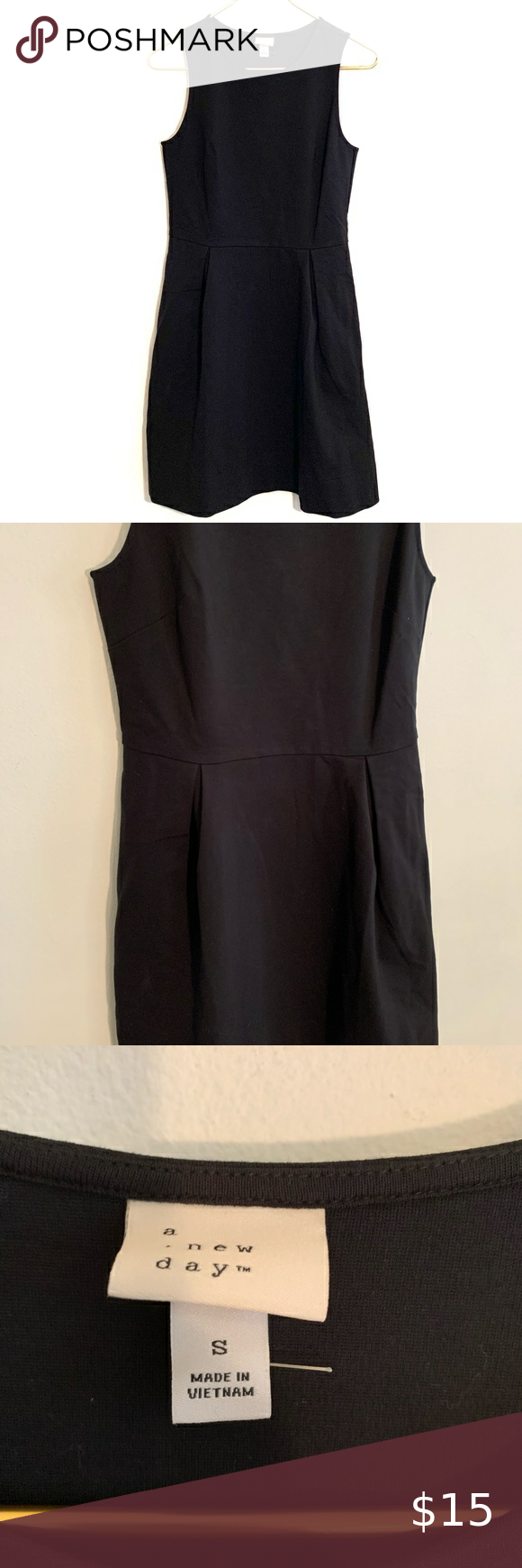 A New Day Little Black Dress Size Small Little Black Dress Black Dress Pullover Styling [ 1740 x 580 Pixel ]