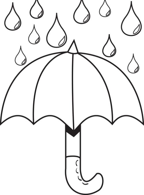 Umbrella Raindrops Coloring Page Umbrella Coloring Page Coloring Pictures For Kids Coloring Pages