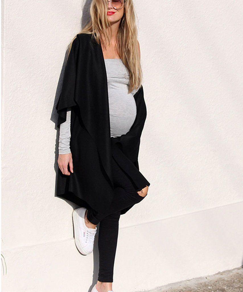 36c221445af6c Bobbi Distressed Maternity Stretch Drill Super Skinny Jean – Preggi Central