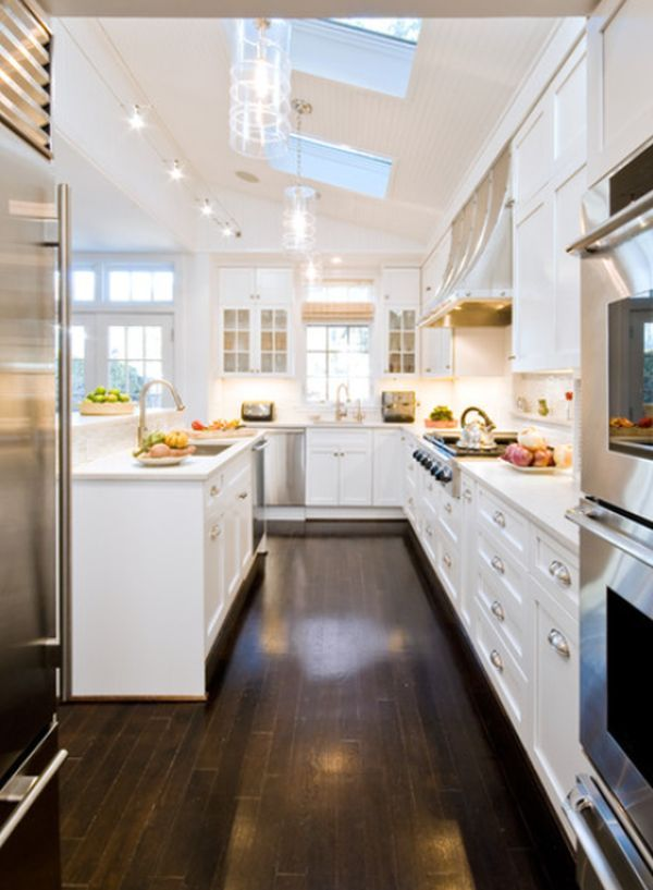 Interior Designs For Long And Narrow Kitchens Eclectic Kitchen