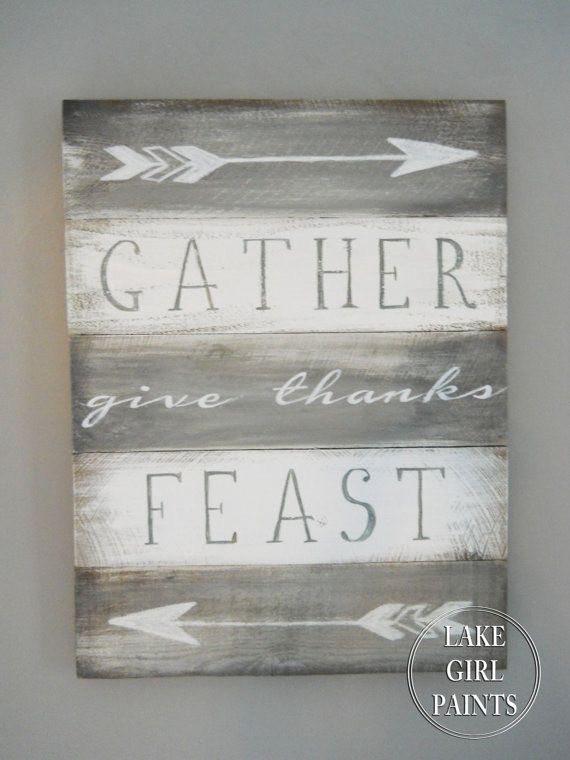 Gather Give Thanks Feast Dining Room Wall Art By DebHrabikDesigns 6000