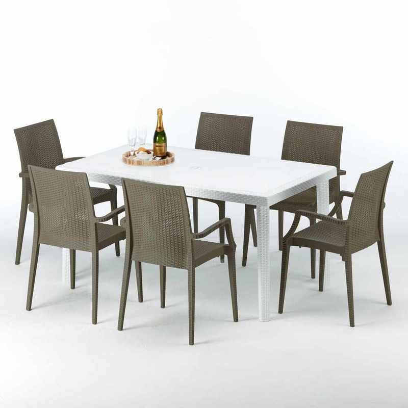 Tavolo Da Giardino Grand Soleil.Salon De Jardin Outdoor Furniture Sets Table Colorful Chairs