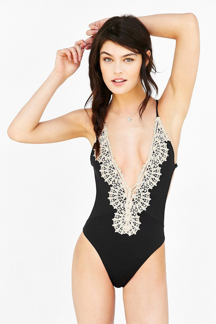 15c43609856 Blue Life Eclipse Crisscross One-Piece Swimsuit - Urban Outfitters ...