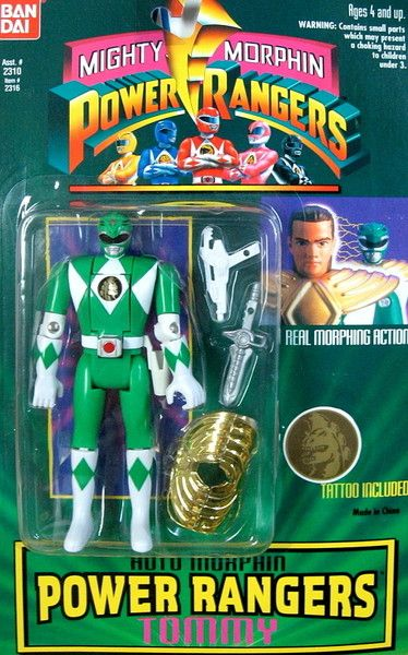 1993 Mighty Morphin Power Rangers Bendable Figure Red Jason New In Package