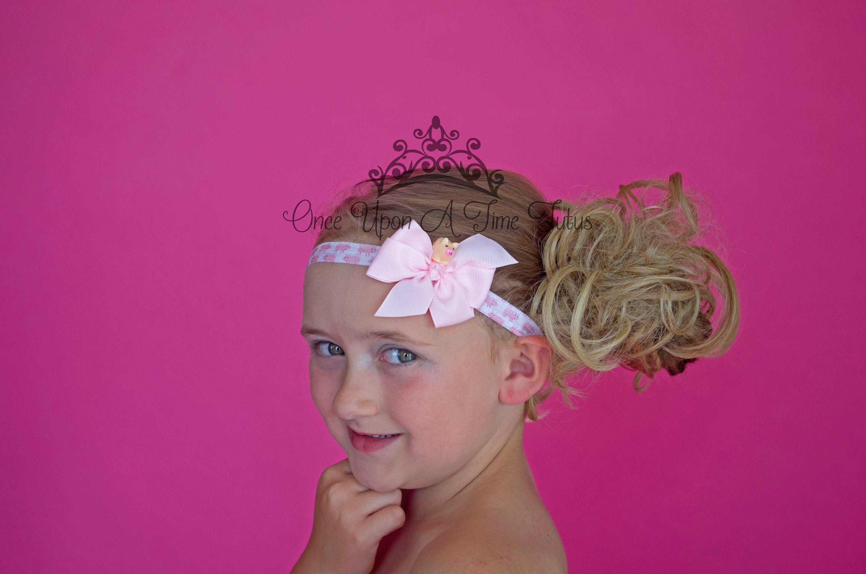 Infant Baby Girls Animal Print Headwear Elastic Hair Band Headband PINK PIG