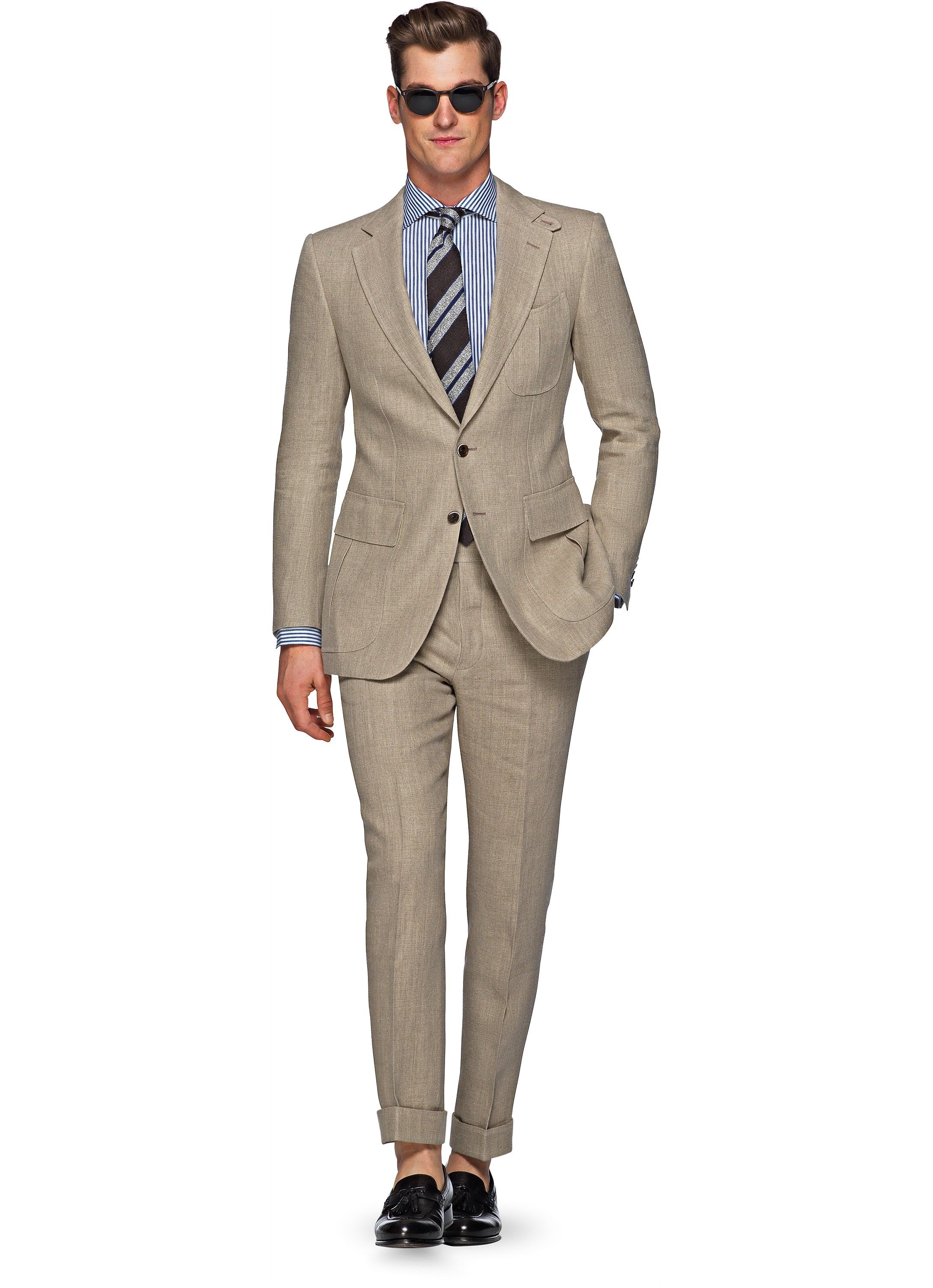 Suit Light Brown Plain Harris P4852i Suitsupply Online Store Terno