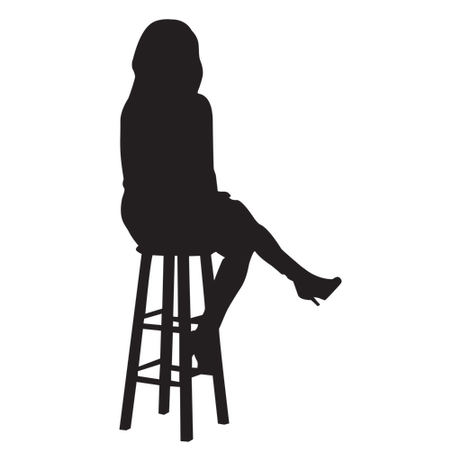 Woman Sitting On Bar Stool Silhouette Transparent Png Svg Vector Silhouette Silhouette Png Silhouette Svg