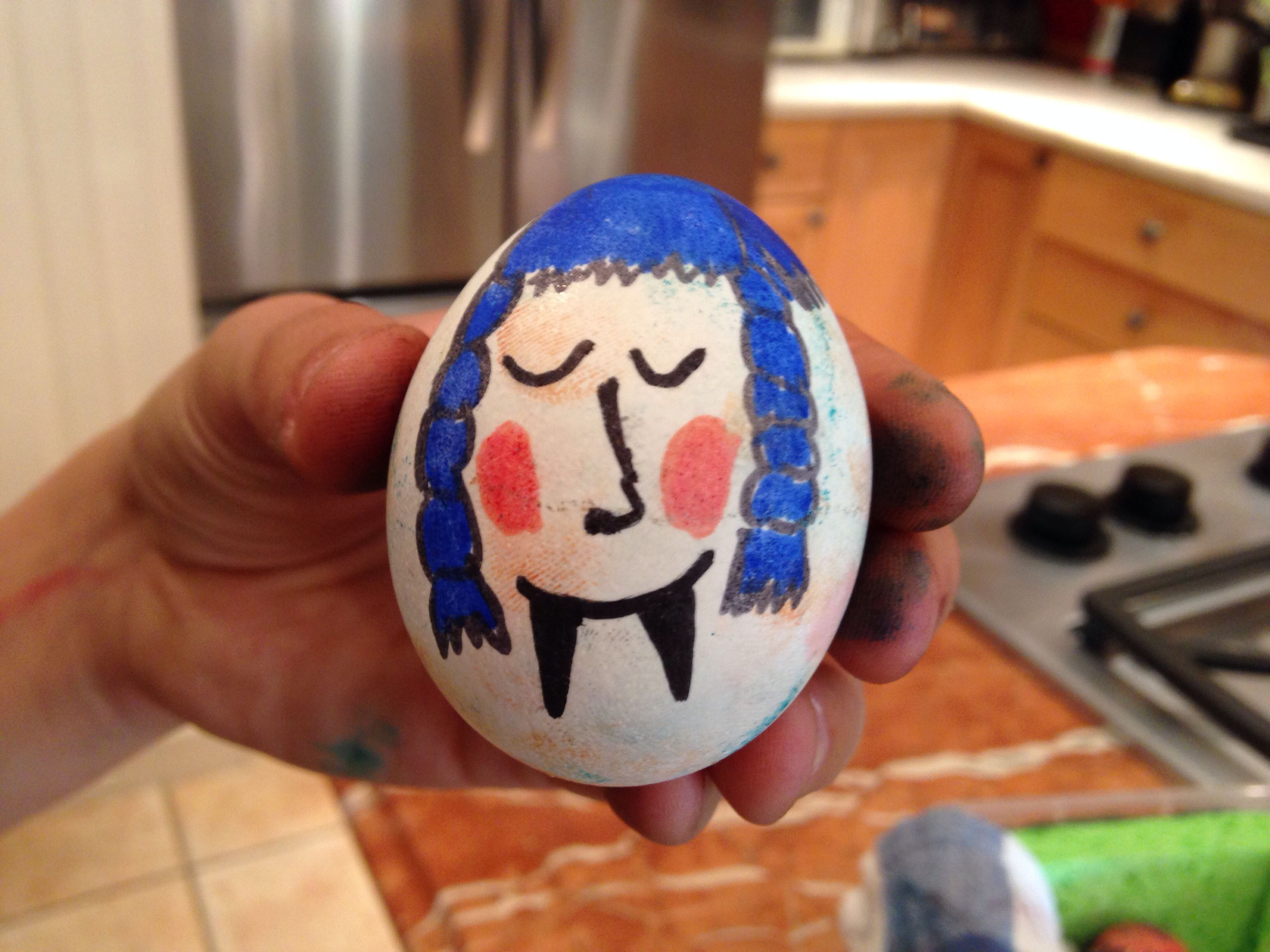 Egg baby project face ...