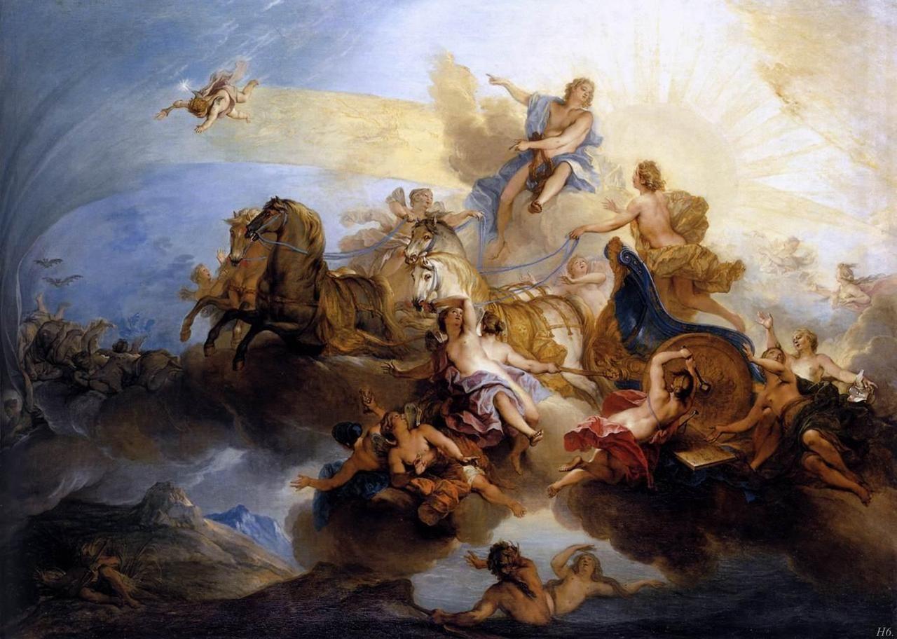 Phaeton on the chariot of Apollo. 1720. Nicolas Bertin ...