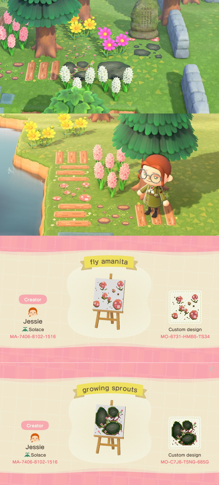 I Made Some Nature Plank Rock Pathing Objects For My Own Mossy Garden Might As Well Share Here Animal Crossing New Animal Crossing Animal Crossing Wild World